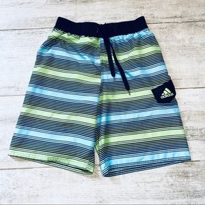 Adidas GREEN, BLUE & BLACK swim trunks size L